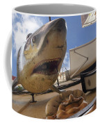 Shark On The Wall Coffee Mug