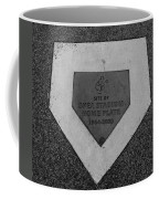 Shea Stadium Home Plate In Black And White Coffee Mug by Rob Hans
