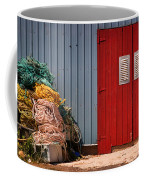 Shed Doors And Tangled Nets Coffee Mug by Louise Heusinkveld