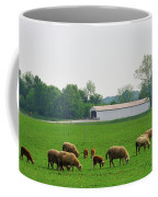 Sheep And Covered Bridge Coffee Mug