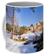 Sheep Farm In Winter Coffee Mug