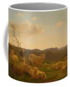Sheep On A Hill Near Skarridso Coffee Mug