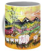 Sheep On Sunny Summer Day Coffee Mug
