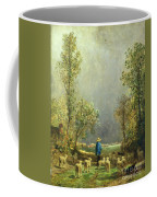 Sheep Watching A Storm Coffee Mug