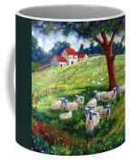 Sheeps In A Field Coffee Mug
