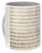 Sheet Music For The Barber Of Seville By Rossini  Coffee Mug