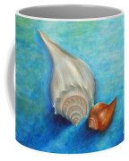 Shells In Blue Coffee Mug