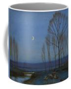 Shepherd And Sheep At Moonlight Coffee Mug by OB Morgan
