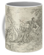 Shepherd Holding A Flute And Two Other Figures In A Landscape Coffee Mug