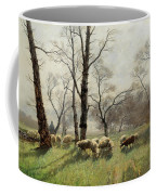 Shepherd With His Flock In The Evening Light Coffee Mug