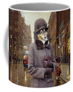 Shetland Sheepdog Art Canvas Print - Charleston Blue Coffee Mug