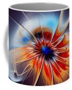 Shining Red Flower Coffee Mug