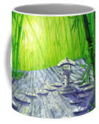 Shinto Lantern In Bamboo Forest Coffee Mug