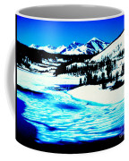 Shiny Snow Magic On Lake Coffee Mug