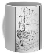 Ship At Sea Coffee Mug