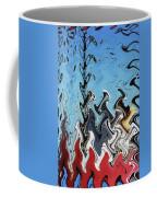 Ship At The Mooring Abstract Coffee Mug