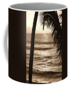 Ship In Sunset Coffee Mug