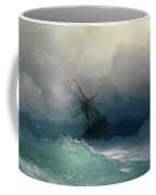 Ship On Stormy Seas Coffee Mug