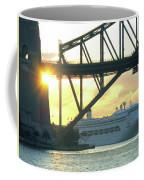 Ship Under Sydney Harbour Bridge Coffee Mug