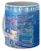 Shipping Containers And Building Windows Reflecting Graffiti  Art Of Valparaiso-chile Coffee Mug