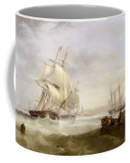 Shipping Off Hartlepool Coffee Mug by John Wilson Carmichael