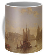 Shipping On The Thames At Greenwich Coffee Mug by David Roberts