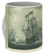 Shipping Scene With Man-of-war Coffee Mug
