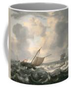 Ships On A Choppy Sea Coffee Mug