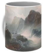 Shipwreck Off A Rocky Coast Coffee Mug