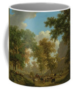 Shore, Pierre-louis Geneva 1753 - 1817 Presinge Lively And Large Trough Path At The Foot Of Cliffs Coffee Mug