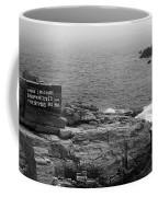 Shoreline And Shipwreck - Portland, Maine Bw Coffee Mug