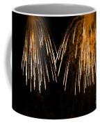 Shower Of Orange Colors Using Pyrotechnics Firework Coffee Mug