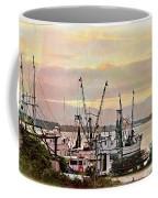 Shrimp Boats Watercolor Coffee Mug