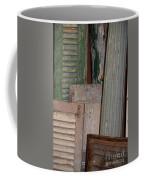 Shutters And Column  Coffee Mug