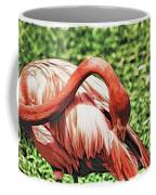 Shy Flamingo Coffee Mug