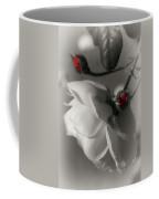 Shy White Rose Coffee Mug