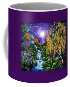 Siamese Cat By A Cascading Waterfall Coffee Mug