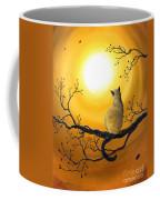 Siamese Cat In Autumn Glow Coffee Mug