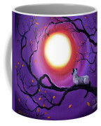 Siamese Cat In Purple Moonlight Coffee Mug