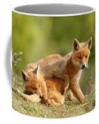 Sibbling Love - Playing Fox Cubs Coffee Mug