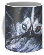 Siberian Husky Eyes Coffee Mug