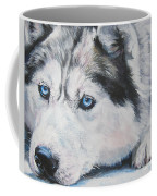 Siberian Husky Up Close Coffee Mug