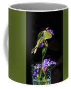 Siberian Iris And Luna Moth Coffee Mug