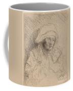 Sick Woman With A Large White Headdress (saskia) Coffee Mug