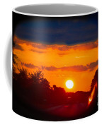 Side Mirror Sunset Coffee Mug