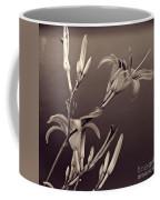 Sidewalk Lilies Sepia Square Format  Coffee Mug