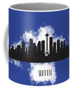 Seattle Skyline Silhouette Coffee Mug