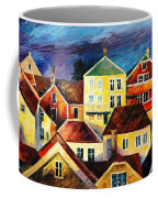 Sight From Above - Palette Knife Oil Painting On Canvas By Leonid Afremov Coffee Mug