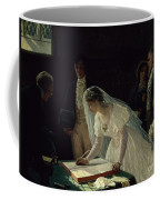 Signing The Register Coffee Mug by Edmund Blair Leighton