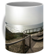 Silence And Solitude - A Special Sunset Throne High Above The Ocean Coffee Mug